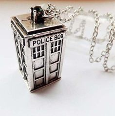 Dr Who Necklace Dr Who Police Box Dr Who by CraftyClaireabelle