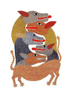 Signature - Patterns in Gond Art (Tara Books)  006 by peacay, via Flickr