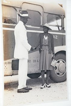 Vintage photo of an unknown African American man and woman.