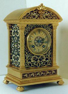 French Cloisonne Enamel Clock.
