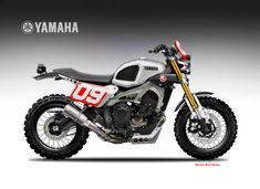 "Yamaha XSR 900 Street Tracker Dirtiest Sons ""Liveries"" Oberdan Bezzi   www.caferacerpasion.com"