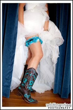 Love boots with wedding dresses!  I think everyone should :)