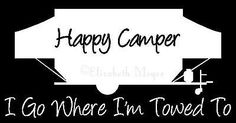 Pop Up Tent Trailer Happy Camper Camping Decal Sticker YOU CHOOSE COLOR!