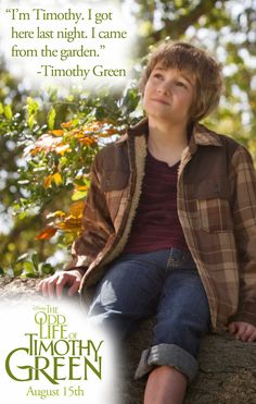 I can't wait to see this movie!  The Odd Life of Timothy Green