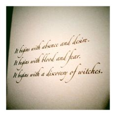 a discovery of witches...one of the best books I've ever read!