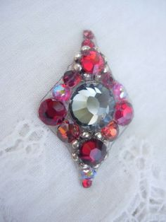 Crimson Dusk Bindi  swarovski crystal belly dance by KuhlJewels, $15.00