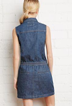 Button-Front Denim Dress. not pattern.