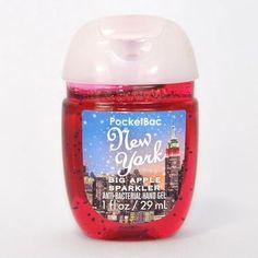 Gel antibactérien NEW YORK BIG APPLE SPARKLE Bath and Body Works Us pocketbac
