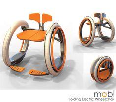 Mobi: folding electric wheelchair