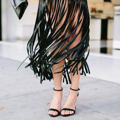 We've got fringe fever ❤️ #LoveGUESS (📷: @jodeedebesphoto of @sydnesummer in the @Marciano Behati Faux-Leather Fringe Skirt)