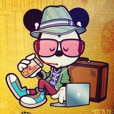 hipster art mickey mouse - Buscar con Google