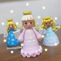 3D quilled angels