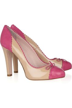 Red Valentino Two-tone patent-leather pumps