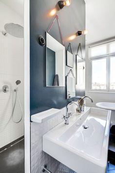 Une belle salle de bains design + VER LINK https://www.pinterest.com/pin/560698222347977228/