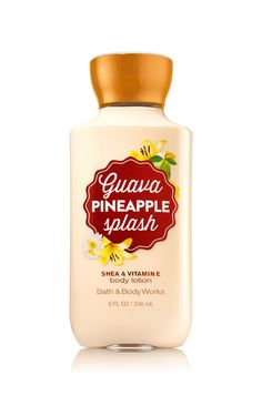 Bath & Body Works Guava Pineapple Splash Body Lotion | A tropical treat of guava nectar, pink grapefruit & a hint of sea salt.