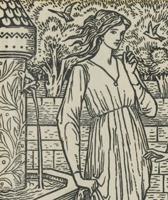Kelmscott Press--Burne-Jones, Edward--Catterson-Smith, Robert ILLUSTRATIVE MATERIAL RELATING TO THE WORKS OF GEOFFREY CHAUCER, 'THE ROMAUNT OF THE ROSE'