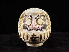 Vintage Japanese White color Lucky Daruma doll. Dharma doll. After Party Sale 10% OFF (AFTER10)