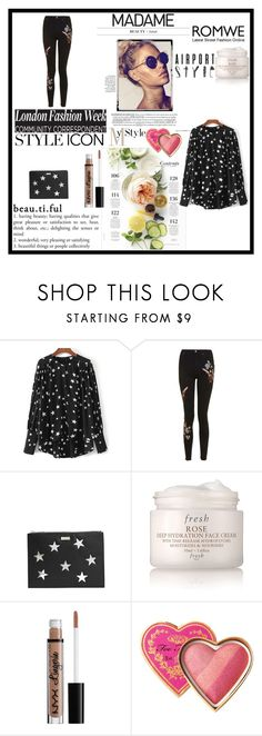 """""""Untitled #37"""" by twitterz-1 ❤ liked on Polyvore featuring Topshop, STELLA McCARTNEY, Martha Stewart, Fresh, NYX and Too Faced Cosmetics"""