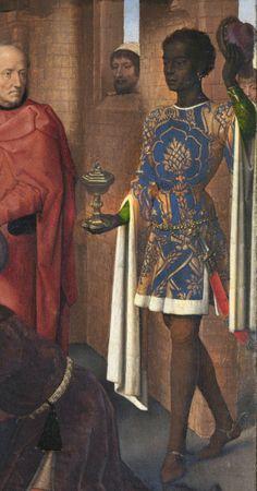 Triptych of Jan Floreins (detail)  Germany/Flanders (1479)   Oil on oak panel, 46,3 x 57,4 cm (central panel), 48 x 25 cm (each wing)   Groeninge Museum at Saint John's Hospital, Bruges