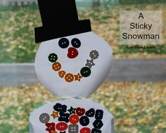A Sticky Snowman Activity for Kids. A simple and fun learning activity. How Wee Learn