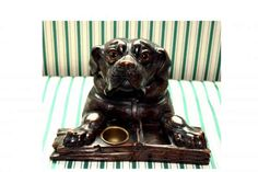 New Focus On | Black Forest Carved Dog Ink Stand