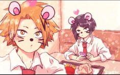 My Hero Academia - Kaminari & Jirou My Hero Academia Memes, Hero Academia Characters, Buko No Hero Academia, Anime Characters, Anime Manga, Anime Art, Fanfiction, Fanart, Hero 3