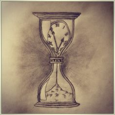 Time is precious... Once wasted, cannot be recovered again....  #clock #sand #hourglass #pencil #sketch