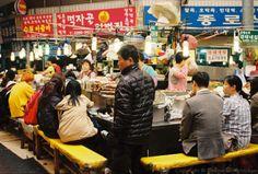광장시장, Gwangjang market, traditional market in Seoul #seoul #market #korea #travel