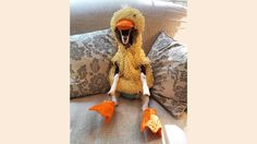 Goat with anxiety only calms down when in duck costume - TODAY.com