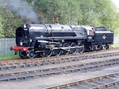 One of the last mainline steam locomotives built in the UK: