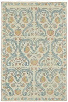 Montage Hand-Tufted Teal Area Rug