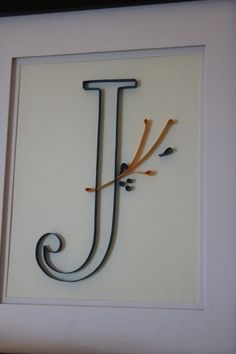 Initial Quilled Paper Wall Art J by TheJamiesonShop on Etsy, $12.00
