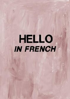 Hello in French greeting card