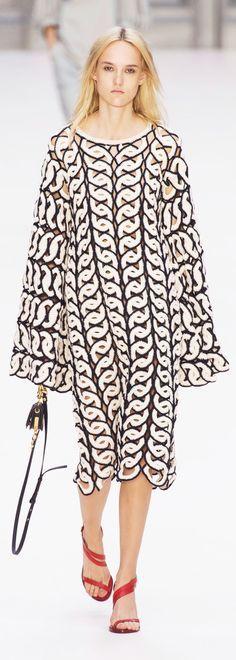 Chloé at Paris Fashion Week Spring 2017 - Crochet Dress