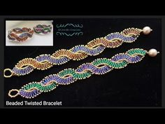 to make a Beaded Twisted Bracelet. Beads Jewelry Making.How to make a Beaded Twisted Bracelet. Beads Jewelry Making. Making Bracelets With Beads, Seed Bead Bracelets, Seed Bead Jewelry, Diy Jewelry, Jewelry Ideas, Jewelry Findings, Jewelry Bracelets, Jewelry Accessories, Handmade Jewelry