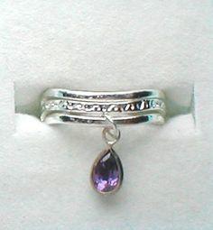 Silver toe ring toe ring