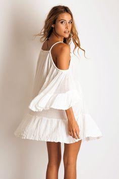 Jen's Pirate Booty El Matador mini dress in white: Soleilblue.com