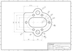 Drawing School, Technical Drawing, Autocad, 2d, Aviation, Engineering, Diagram, Concept, Dibujo