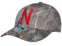 16e6841161951 Nebraska Cornhuskers TOW Camo Realtree Xtra Memory Foam Flexfit Hat Ca –  Sporting Up