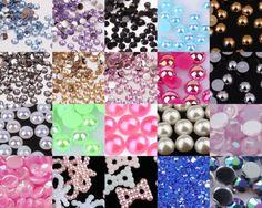 Crystal-Rhinestones-Gems-Resin-AB-Pearl-Nail-Art-Phone-Scrapbook-Craft-Deco-B