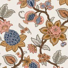 DORIS JACOBEAN - TUMERIC - Natty & Polly - Wallpaper Australia Wallpaper Samples, Wall Wallpaper, Magnolia Wallpaper, Strong Character, Design Repeats, Jacobean, Dory, Turmeric, Whimsical