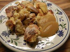 Kaiserschmarrn mit apfel mousse, una receta que aprendí acá en Alemania.