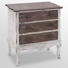 Find it at the Foundary - Wood Chest - 3 Drawer