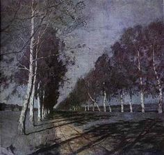 Moonlit Night: A Village - Isaac Levitan