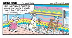 Image detail for -Easter Cartoons, easter painting fail, funny easter cartoon Funny Easter Jokes, Easter Puns, Easter Cartoons, Funny Bunnies, Funny Cartoons, Easter Stuff, Funny Easter Pics, Easter Pictures, Easter Art