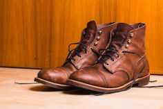 Red Wing Iron Rangers -  Amber Harness Leather Dat triple stitched goodness!
