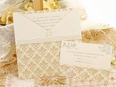 beige wedding invitations