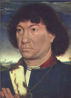 MEMLINC Hans: Flemish school (1435-1494) - Portrait of a Man at Prayer before a Landscape