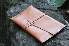 Personalized leather ipad mini case envelope. Hand stitched.. $49.00, via Etsy.
