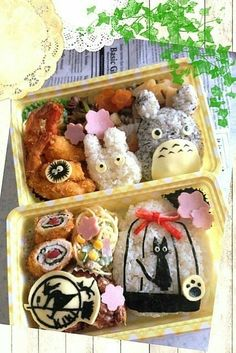 My Neighbor Totoro, Kiki's Delivery Service, Studio Ghibli, bento, boxed lunch; Anime Food